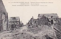 AK Herbécourt - Rue De L'Église - Offensive Franco-Anglaise De La Somme - Ca. 1915  (56498) - Peronne