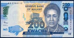 MALAWI 200 KWACHA P-60a Malawi Bank Lilongwe, Fish - Parliament Building 2012 UNC - Malawi