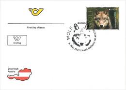 Austria 2021 - Europa 2021 Wolf Black FDC - 2011-... Unused Stamps