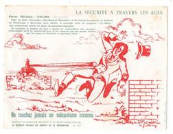Buvard La Sécurité à Travers Les âges Pierre Méchain 1744-1804 Astronome Ne Touchez Jamais Un Mécanisme Inconnu - S