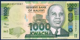 MALAWI 1000 KWACHA P-62a Bank Lilongwe, Hastings Kamuzu Banda - Mzuzu Maize Silos 2012 UNC - Malawi