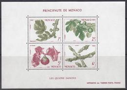 MONACO  Block 24, Postfrisch **, Die Vier Jahreszeiten, Feige, 1983 - Blocks & Sheetlets