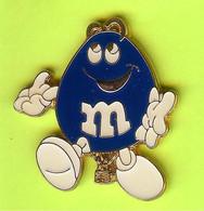 Pin's Montgolfière Bonbon M&M Bleu Foncé - 8Z01 - Mongolfiere