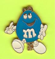 Pin's Montgolfière Bonbon M&M Bleu Pâle - 8Z04 - Mongolfiere
