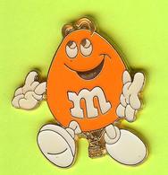 Pin's Montgolfière Bonbon M&M Orange - 8Z06 - Mongolfiere