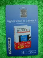 7128 Télécarte Collection Dictionnaire HACHETTE  LIVRE    50u  ( Recto Verso)  Carte Téléphonique - Cultura