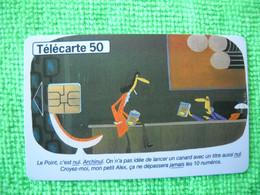 7129 Télécarte Collection   LE POINT 25 ANS  LIVRE    50u  ( Recto Verso)  Carte Téléphonique - Cultura