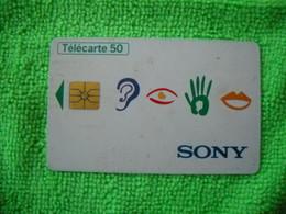7130 Télécarte Collection   ECRAN 16/9e  SONY Télévision    50u  ( Recto Verso)  Carte Téléphonique - Altri