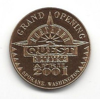 Northern Quest Casino Airway Heights, WA - Open Day NV Good Luck Token With Velvet Pouch - Casino