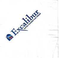 Excalibur Casino - Las Vegas, NV  - Napkin - Company Logo Napkins