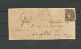 47 CERES   Rare  Seul Sur Lettre  Oblitération COLLONGES  Du 21/01/1871     (fdcclasroug) - Other