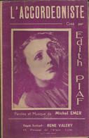 """""""L'Accordéoniste"""" - Créé Par Edith Piaf - Paroles Et Musique De Michel Emer - Photo De Erpé-Nice - Other"""