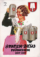 MUNCHEN - MUNICH -  Spaten Brau Seit 1397 - Werbung -  Publicite - Advertising