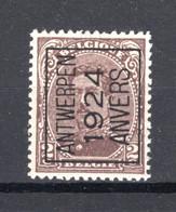 PRE88A MNH** 1924 - ANTWERPEN 1924 ANVERS - Tipo 1922-26 (Alberto I)