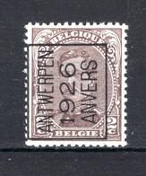 PRE127A-III MNH** 1926 - ANTWERPEN 1926 ANVERS - Tipo 1922-26 (Alberto I)