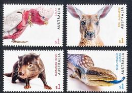 Australia  2019.  Australian Fauna. Parrot.   Birds. Kangaroo, Tasmanian Devil, Lizard  Animals.  MNH** - Mint Stamps