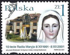Poland 2001 - Mi 3948 - YT 3715 ( Virgin Mary Statue, Building ) - Gebruikt
