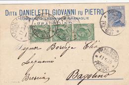 Pralboino Frazionario 12-163 Del 1925 Splendido - Marcophilia