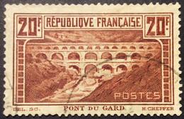 262 Type I Pont Du Gard Oblitéré Centrage - Usati