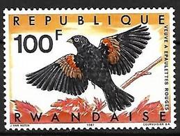 Rwanda - MNH **  1967 :       Fan-tailed Widowbird -   Euplectes Axillaris - Sperlingsvögel & Singvögel