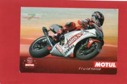 MOTO---7  CARLOS CHECA--PUB MOTUL--YAMAHA--( Peu Courante )--voir 2 Scans - Motorcycle Sport