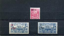 Nouvelle-Calédonie 1924-27 Yt 133-135 * - Nuevos