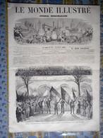 LE MONDE ILLUSTRE 24/10/1868 ESPAGNE BARCELONA MADRID CORTES PORTUGAL LISBONNE CUBA LA HAVANNE PARIS CHATS CHAMPFLEURY - 1850 - 1899