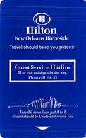 Hilton Hotel New Orleans Riverside Room Key Card - Hotel Keycards