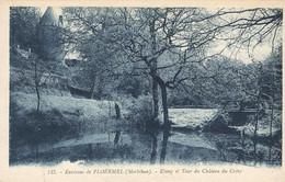 PLOERMEL : ETANG ET TOUR DU CHATEAU DE CREVY - Ploërmel