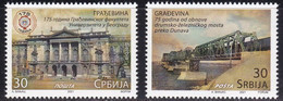 SERBIA 2021, 75 Years Since The Reconstruction Of The Road Railway Trains Bridges Over The Danube River MNH - Bridges