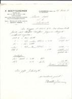 FACTURE / ENTREPOT BRASSERIE SCHUTZENBERGER / EAUX  MINERALES SOULTZMATT /  SARREBOURG / F. BOETTIGHEIMER - Unclassified