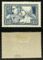 N° 252a TRAVAIL Type 2 Neuf N* TB Cote 250€ Signé Calves - Unused Stamps