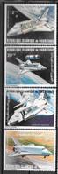 PA - 1981 - 200 à 203 **MNH - Navette Spatiale - 2 - Mauritania (1960-...)