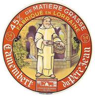 ETIQU CAMEMBERT LE Du PERE JEAN 54 D Lorraine - Cheese