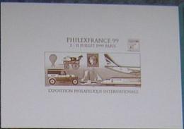 Document La Poste Gravure - Philexfrance 99 Paris - Documenten Van De Post