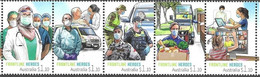 AUSTRALIA, 2021, MNH, COVID-19, FRONTLINE HEROES,  HEALTHCARE WORKERS, POLICE, FARMERS, VEGETABLES, EDUCATION, 5v - Andere