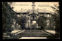93 - GAGNY - LE SQUARE DES AMIS RUE DE VILLEMOMBLE - Gagny