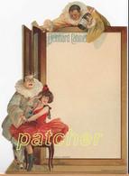 """Speisekarte/Menu """"Deinhard Cabinet"""", Clown, Tänzerin, Ca. 1900-1910 - Menu"""