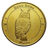UKRAINE 1 ZLOTNIK FAUNA RED BOOK - EAGLE OWL BIRD HIBOU EULE GUFO BUBO BUBO 2018 - Ucrania