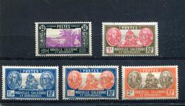 Nouvelle-Calédonie 1928-38 Yt 147A 154 156 156A 157 * - Nuevos