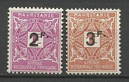 MAURITANIE TAXE N° 25 Et 26 NEUF*   TRACE DE CHARNIERE  / MH - Unused Stamps