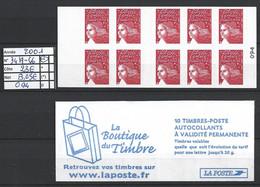 ANNEE 2001 SPLENDIDE LOT DE LUXE CARNET NON PLIER N° 3419-C6 NEUF (**) CÔTE 23.00€ CATALOGUE Y&T A SAISIR!!!!!! - Commemoratives
