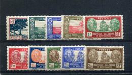 Nouvelle-Calédonie 1939-40 Yt 180-189 * - Nuevos