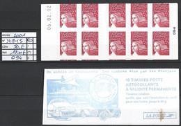 ANNEE 2001 SPLENDIDE LOT DE LUXE CARNET NON PLIER N° 3419-C5 NEUF (**) CÔTE 50.00€ CATALOGUE Y&T A SAISIR!!!!!! - Commemoratives