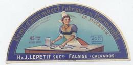 Etiquette Camembert, Falaise - Cheese