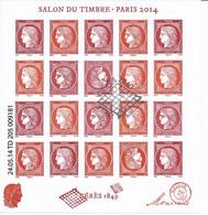 France 2014 - F4871 Bloc Feuillet  Salon Du Timbre Cérès Avec Tête Bêche - Oblitération Speciale Premier Jour - Oblitérés