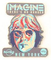 Superbe Pin's HRC NEW YORK - IMAGINE - Portrait De JOHN LENNON - Edition Limitée 350 Ex - Zamac - HRC - KHRC2 - Personaggi Celebri