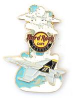 Superbe Pin's HRC SEATTLE - Guitare Et American Jet Fighter Aircraft - Edition Limitée 350 Ex - Zamac - HRC - KHRC4 - Aerei
