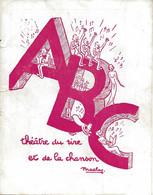 PROGRAMME DU THÉATRE ABC LA ROUTE FLEURIE AVEC LA DÉDICACE DES 24 ARTISTES - Programma's
