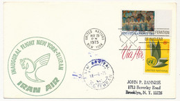 Nations Unies - Inaugural Flight New-York-Tehran - Iran Air - New York 29 Mai 1975 - Briefe U. Dokumente